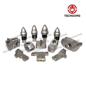Techgong Carbide Conical Shanks Foundation Rock Bucket Teeth Hard Rock Drilling Bits