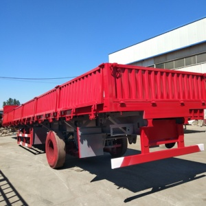 semi trailer air bag suspension Chengda WABCO Brake System 12 Wheel Side Wall Cargo Trailer