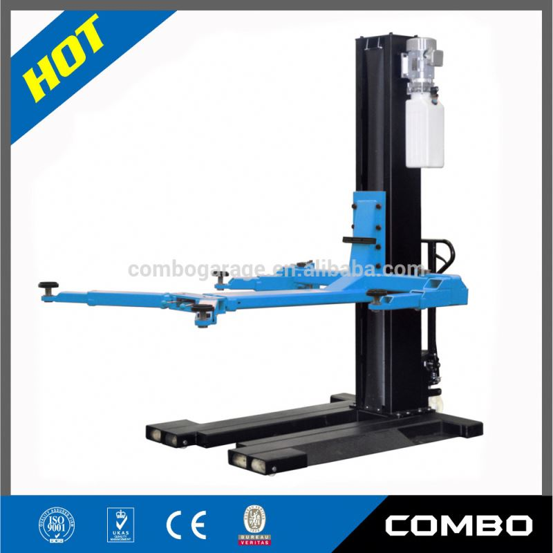 Mobile design heavy-duty car lift one post OEM available