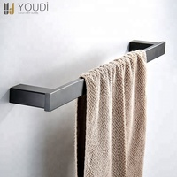 Modern Wall Mounted Towel Holder Bathroom Single Towel Bar for Shower