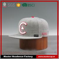 100% Acrylic embroidery Classic snapback caps plain snapback hat for girls