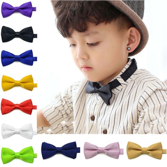 30d6bd0b0979 New Fashion Children Kids Boys Toddler Infant Solid Bowtie Pre Tied Wedding Bow  Tie Necktie H9