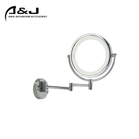 Make Up Mirror With Led Light Wall Mounted Antique Brass Led Lighted Magnifier Bathroom Cosmetic Mirror Vanity Mirror With Light