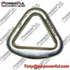 "Size 4"" Big G80 Galvanized Drop Forged Alloy Steel Triangle Delta Ring For Bags or Belt"