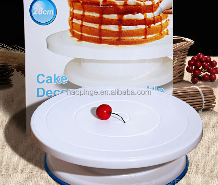 28cm Cake Base Cake Decorating Tools Rotating Cake Stand Sugar Craft Turntable Platform Cupcake Plate Revolving Baking Tools