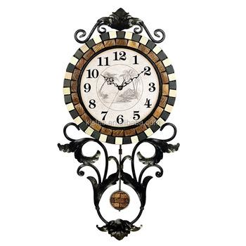 Natural Shell Stone Vintage Decorative Wall Clocks Decorative Living Room