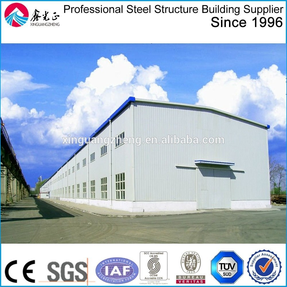 Chinese professional design steel structure South Africa workshop building with Iso & Ce certification