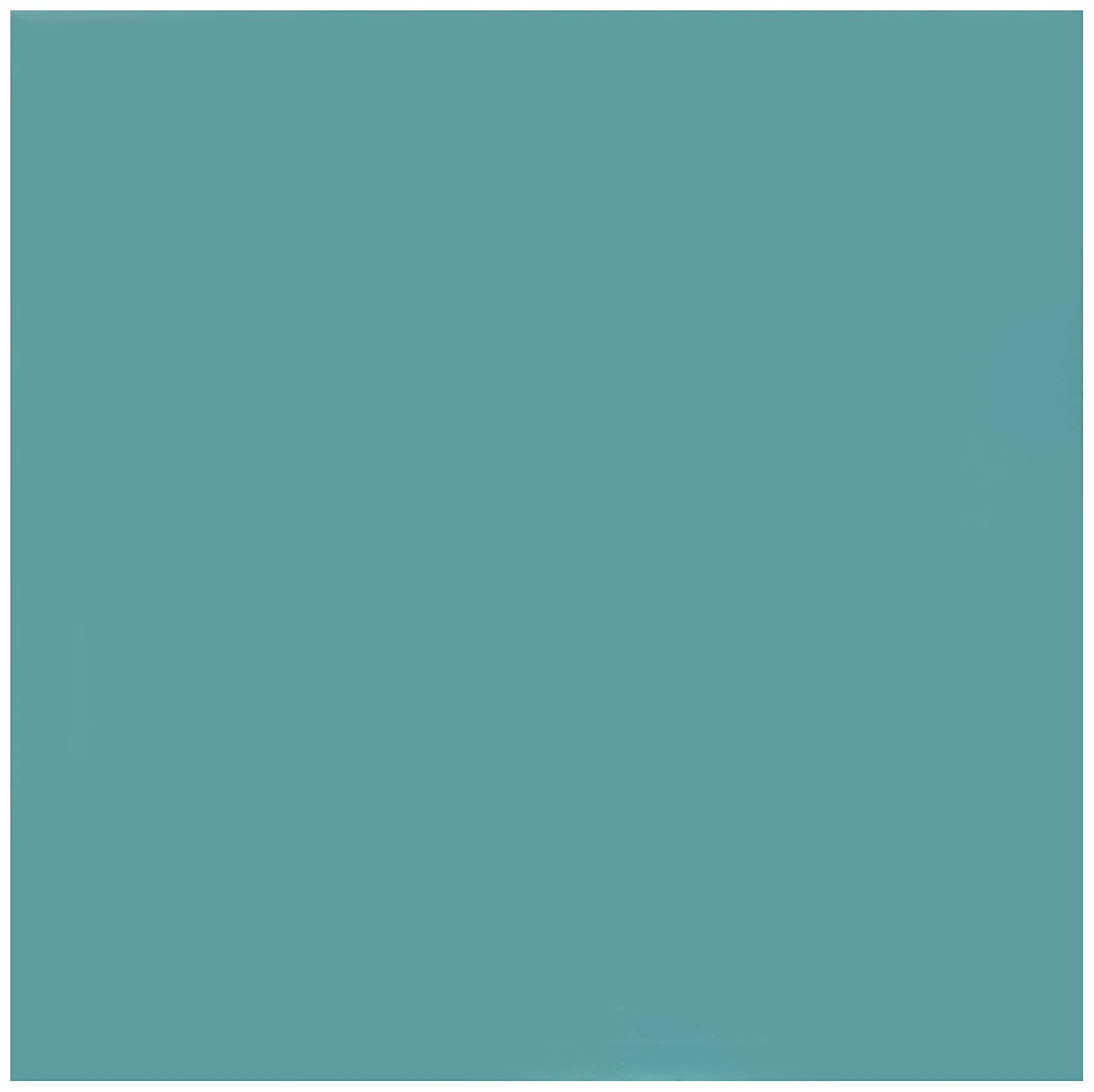 3dRose CST_159850_3 Plain Teal Blue Simple Modern Contemporary Solid One Single Color Turquoise Blue-Green Ceramic Tile Coasters (Set of 4)
