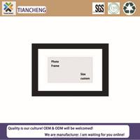 Single plain wooden photo frame / picture frame / painted frame custom bulk - black