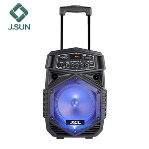 New trolley speaker karaoke 8 inch speaker box from xcl brand home theater speakers