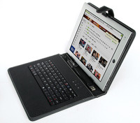 USB Keyboard with leather case for tablet