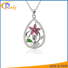 Christmas catalogs 2016 drop flower pendants charms silver wholesale jewelry
