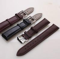 Handmade Band Black/Brown Genuine Leather Strap of Swatch Watch Replacement