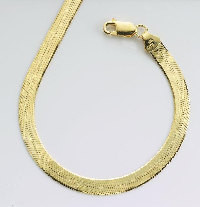 Cadenas De Oro Italiano 14k: 14 K Oro Cadena De Espina De Pescado-Componentes De