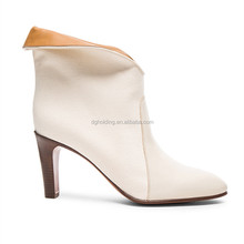 New Autumn Winter Platform High heels Zip Up White Sexy Women shoes Ankle boots