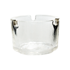 Nice white/black round glass ashtray in different sizes
