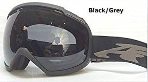 Matte Muted Black/Dark Grey Lens Skylight Spherical Mens Oversized Ski Snowboard Goggles