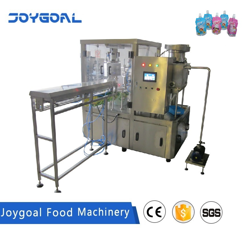 JOYGOAL Peanut milk soy bean milk standing up spout pouch filling capping machine