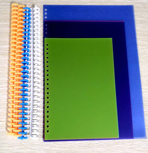 plastic book cover for loose leaf notebook folder diary