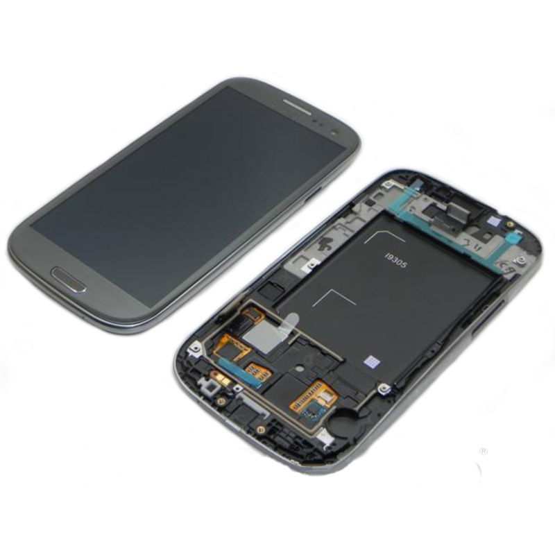 For S3 4G LTE GT-I9305 White/Black/Pebble Blue/Red/Pink/Gray Color LCD And Touch Screen Digitizer Assembly With Frame