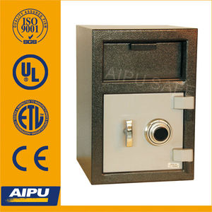 Front loading depository drop safe FL2014M-C / 3mm body , 12mm door safe deposit box