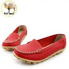 2015 New Genuine Leather Women Shoes EURO 35~41 Causal Soft Woman's Flats 8 Colors Female Moccasins Sapatilhas Femininos XWC101