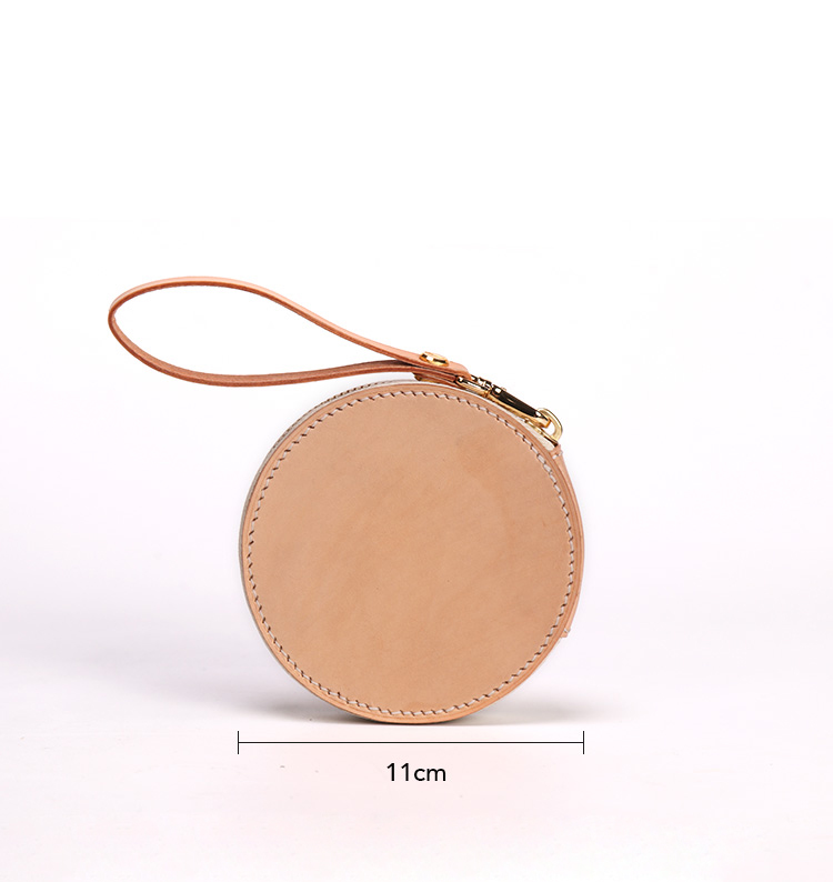 Simple 1.5m Mini Retractable Tape Measure With Unique Genuine Leather Cover Measuring Tape With Belt Loop Holder