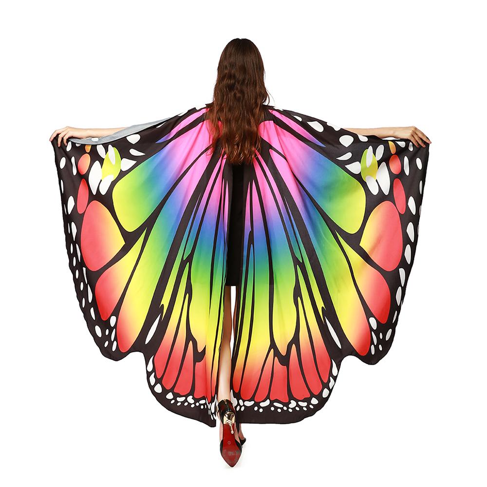 Wings Butterfly cape Shawl Fashion  Chiffon Beach cape 1Pcs Fairy