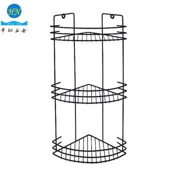 Kitchen Corner Shelf Metal Wire Stand Bathroom Shower Caddy Rack ...