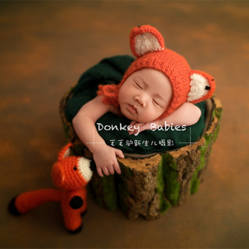 59572e7a374 Knitting Pattern Baby Girls Pattern Crochet Stffed Baby Fox Animal Toy Knit  Kids Bonnet Hat Baby