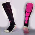 Men Overknee Thick Soles Anti slip sports stocking football soccer team tube Flame Long socks Rubber