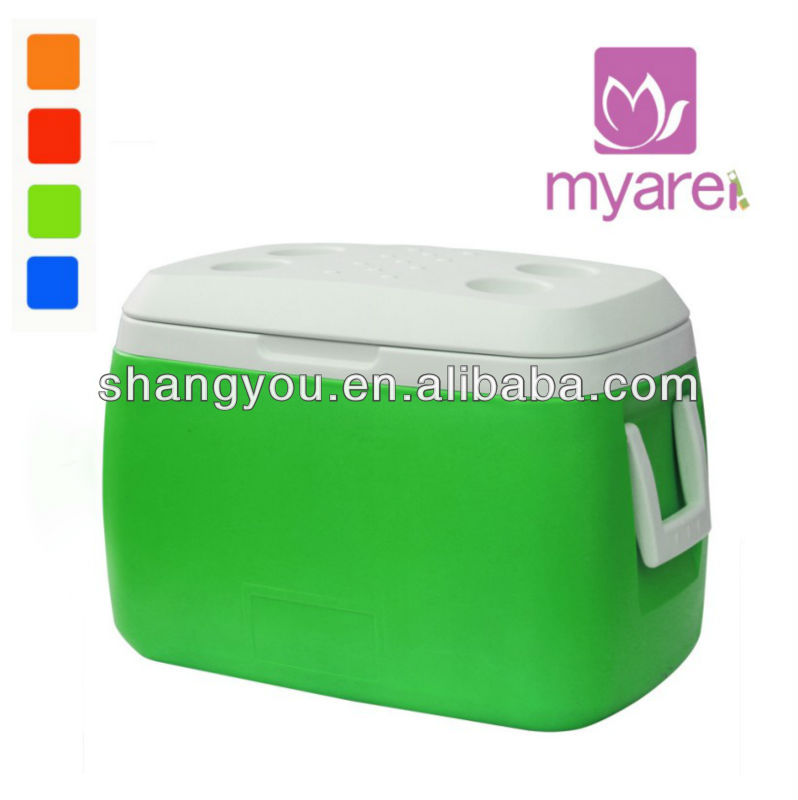 55L ice box with cup holder on top cover