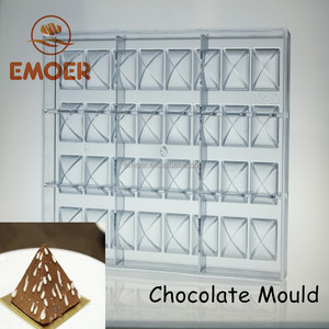 PC pyramid shaped chocolate mould