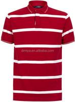 yarn dye red polo shirts white stripe