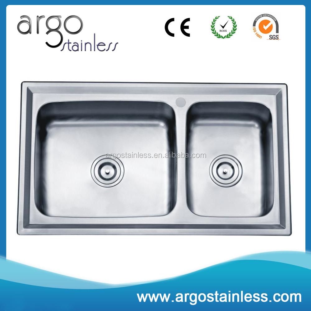 kitchen stainless steel furniture 304 above counter kitchen sinks