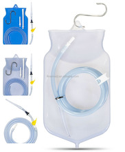 Clear Silicone coffee enema kit with stopcock tap valve