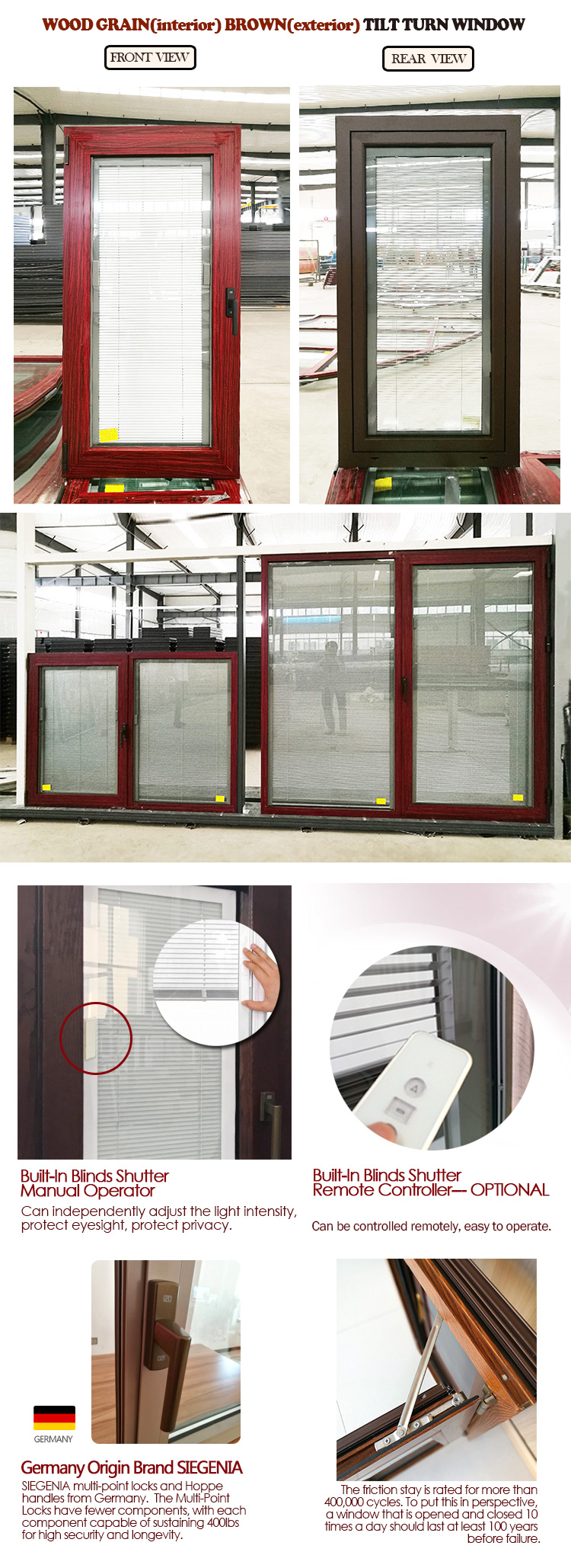 Aluminum alloy window doors and windows aluminium tilt turn