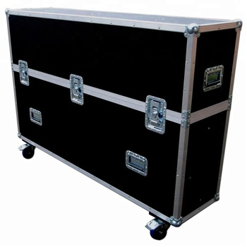9 15mm Fireproof Plywood Material And Tv Carrying Flight Case For 46 Padzilla Lcd