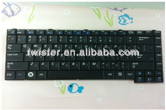 Original Russia Black laptop keyboard for Samsung R60 R70 R65 R510 R610 P510 P560 R410 R455 R460 R458 R408