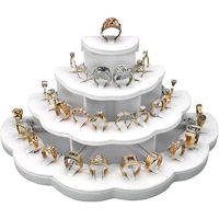 Tiered Jewelry Store Ring Display / Multiple Ring Holder