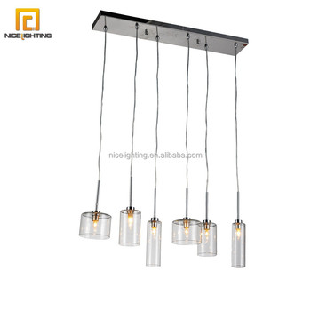 Decorative 6 lights hand blown clear glass pendant light chandelier decorative 6 lights hand blown clear glass pendant light chandelier lamp mozeypictures Images