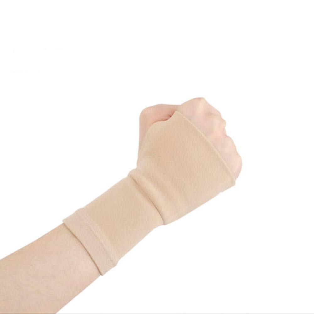 Bracers, Men and Women Fashion Ultra-Thin Sprain Protection Mouse Hand Cover Scar Protection (Color : Skin Color(B), Size : M)