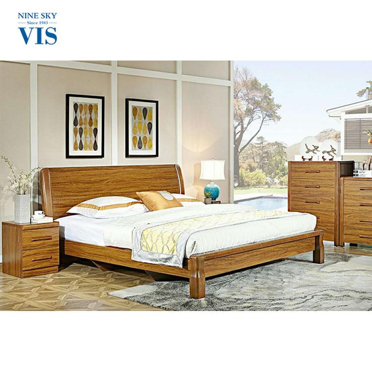 China Manufacturer Wooden Full Bedroom Furniture Sets Solid Wooden