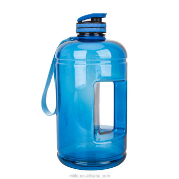 New arrival hot selling clear body motivational fitness workout 1 gallon water bottles with anti-slip lid