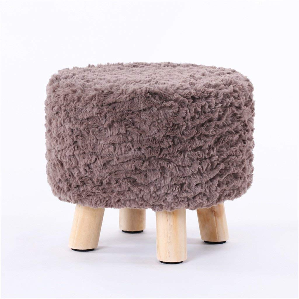 AIDELAI Bar Stool chair- Stool Stool Solid Wood Stool Stool Creative Stool Stool Removable And Washable Stool Shoes Stool Saddle Seat (Color : E)