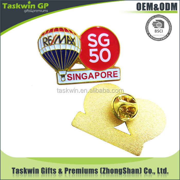 China Supplier High Quality Remax Singapore Sg50 Metal Badge ...