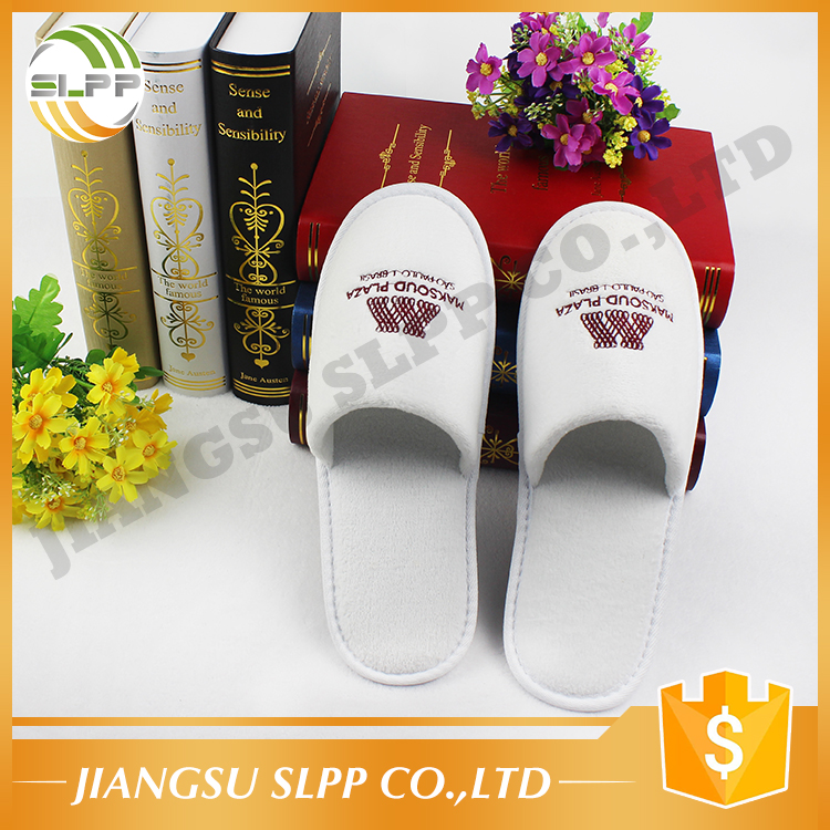 Superior coral fabric EVA sole hotel guest house slipper for free sample