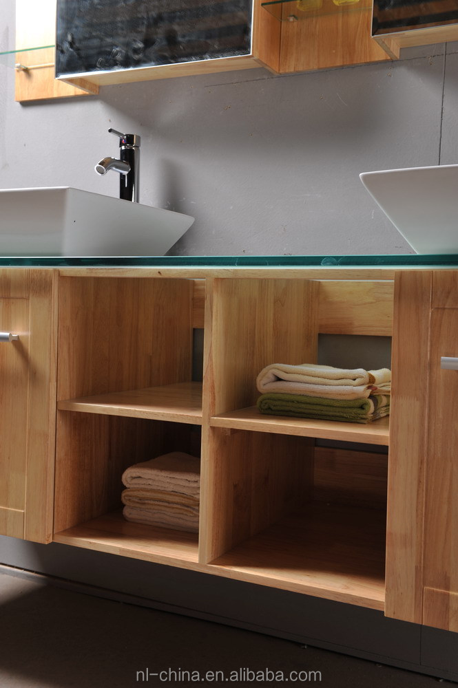 Ready Made Hot Selling Solid Wood Bathroom Cabinet Wood