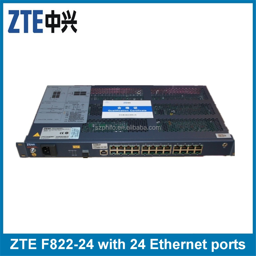 F822 switch 8 LAN port ZTE GPON or EPON ONU 8 voice channel in 1 PSTN port
