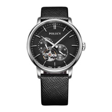 high quality fashion design stainless steel japan automatic wrist watch men Custom Logo Mechanical Skeleton watches